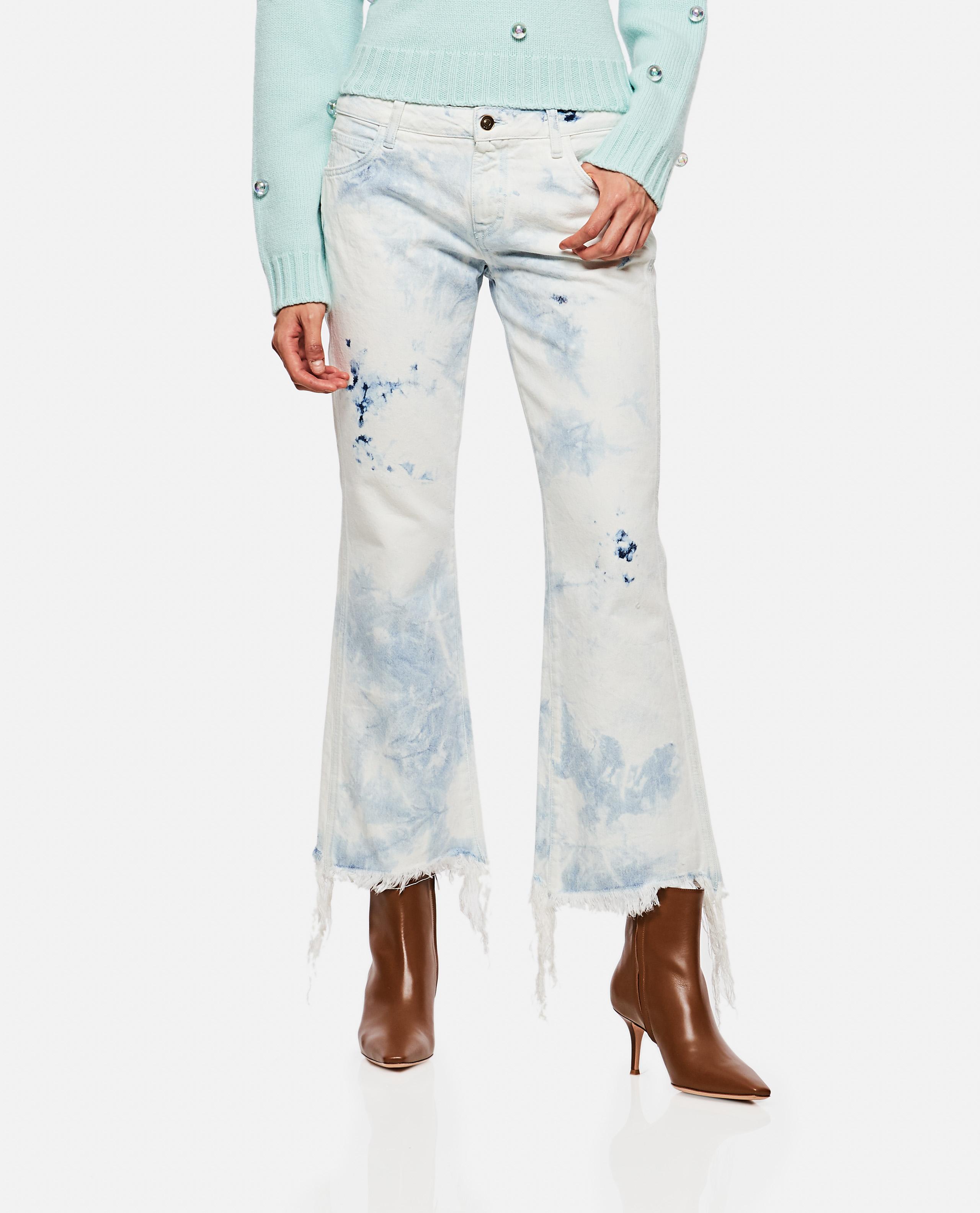 Tie-dye straight leg jeans