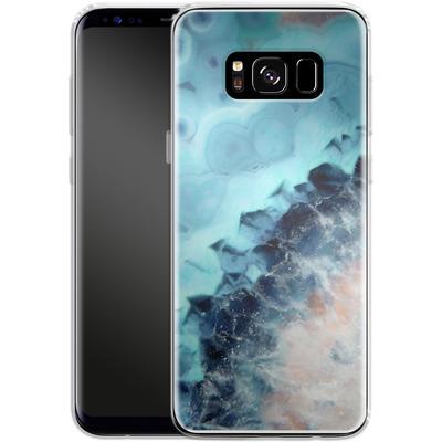Samsung Galaxy S8 Silikon Handyhuelle - Ocean Agate von Emanuela Carratoni