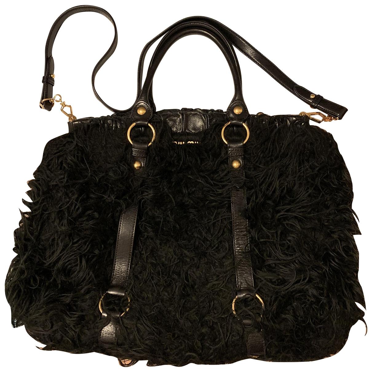 Miu Miu \N Black Faux fur handbag for Women \N