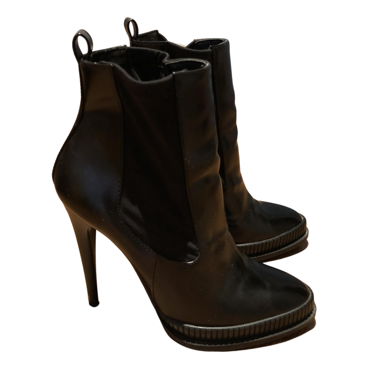 Zara N Black Leather Ankle boots for Women 39 EU