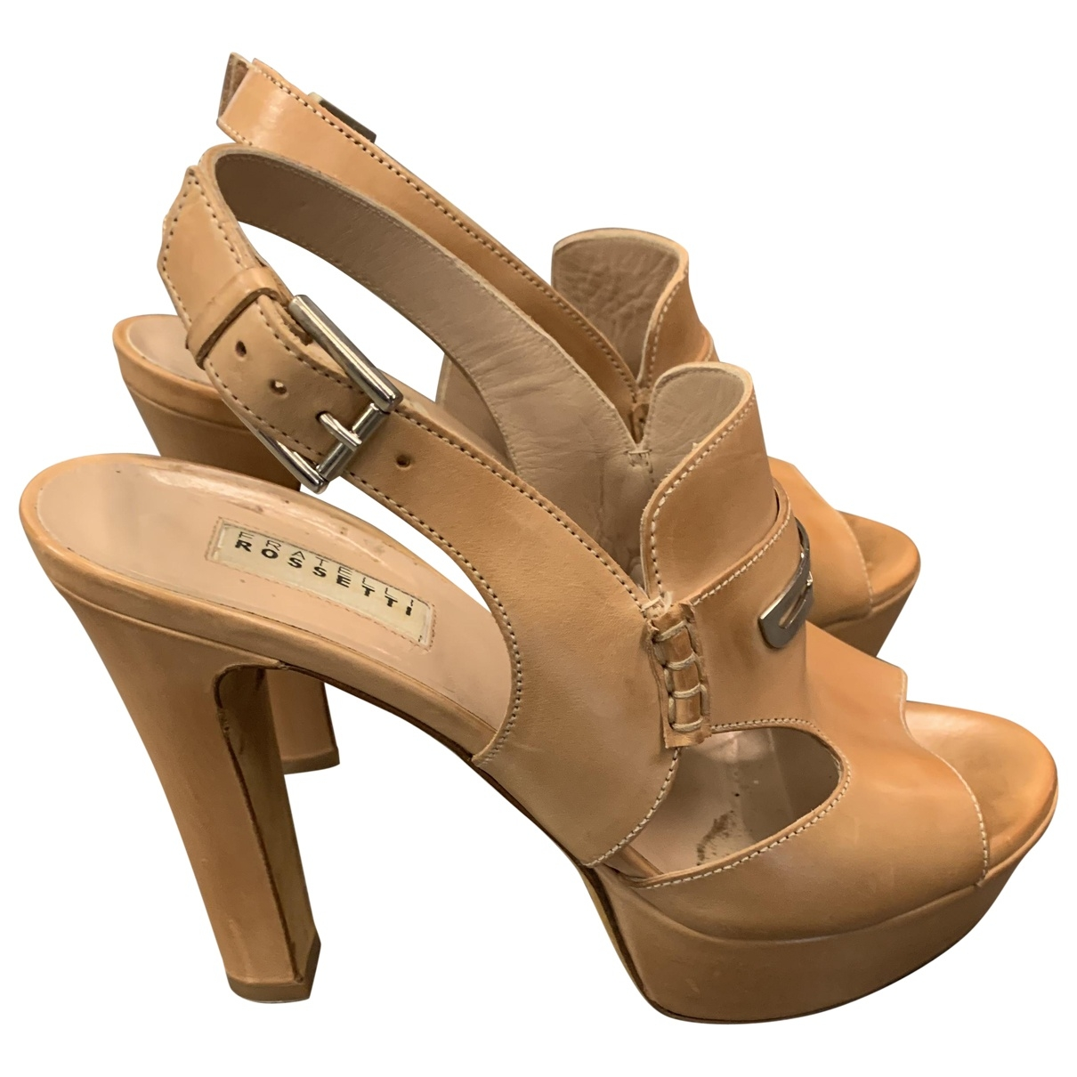 Fratelli Rossetti - Sandales   pour femme en cuir - camel