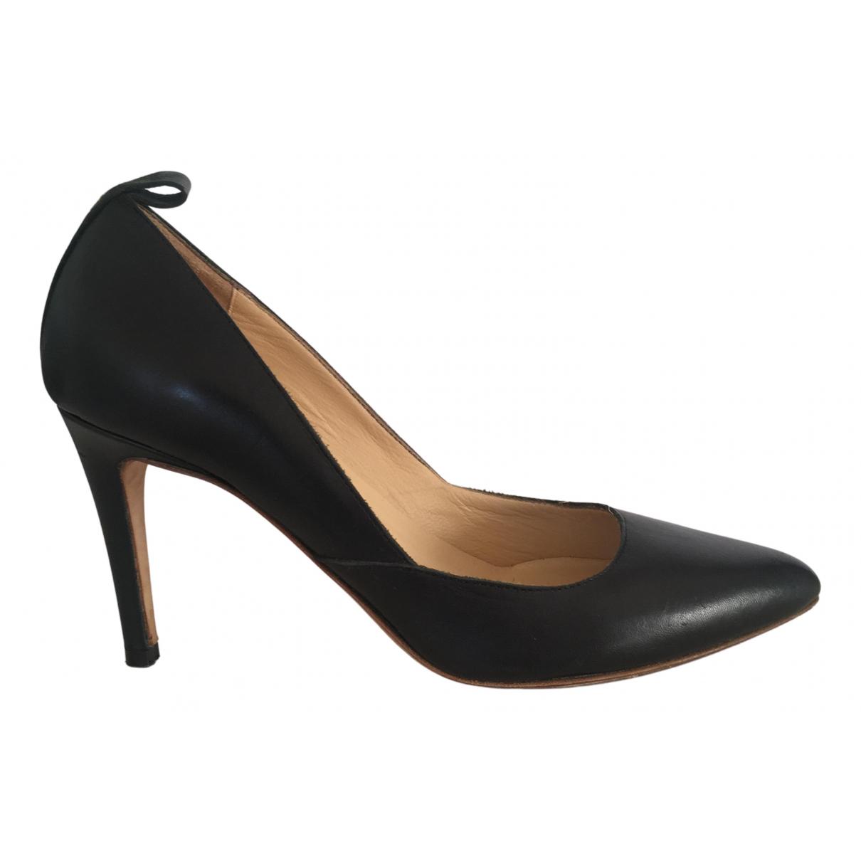 Atp Atelier N Black Leather Heels for Women 37 EU