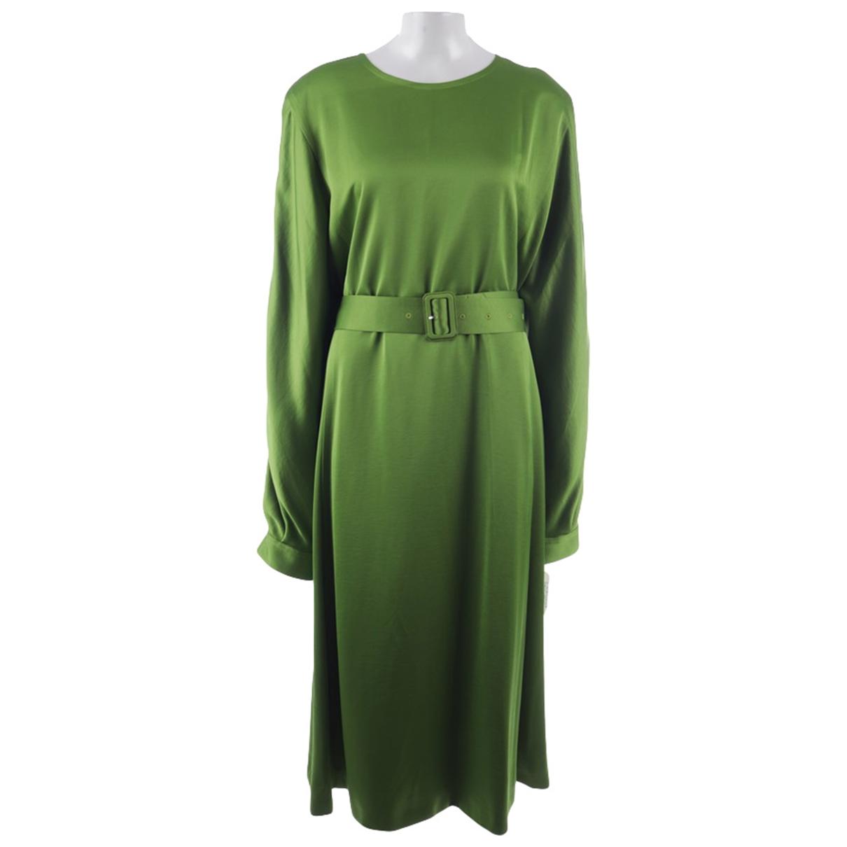 Dries Van Noten \N Kleid in  Gruen Baumwolle
