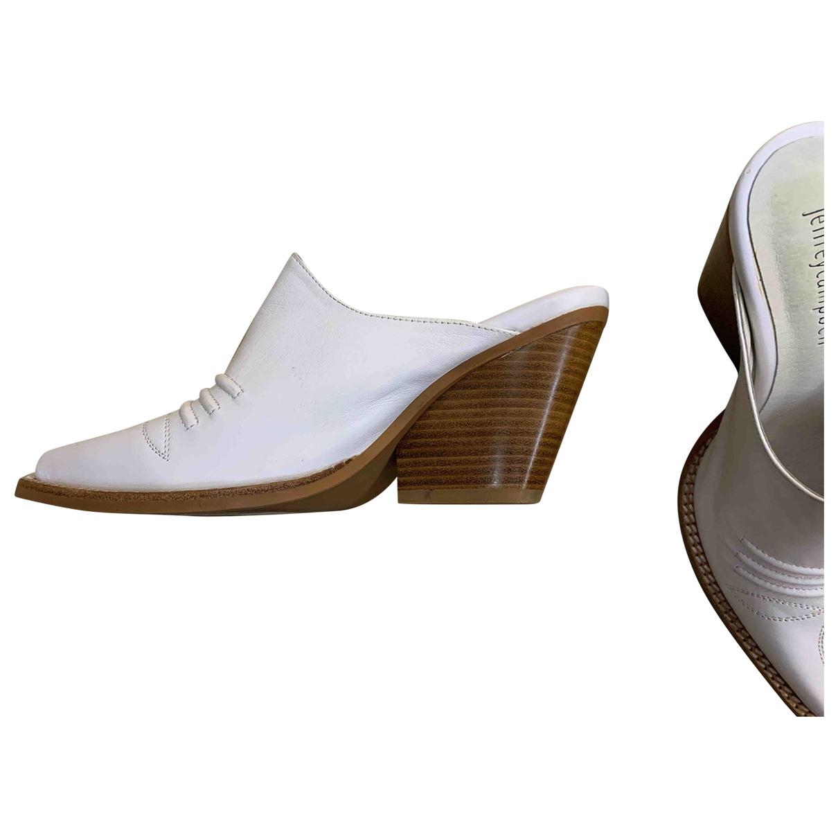 Jeffrey Campbell - Escarpins   pour femme en cuir - blanc