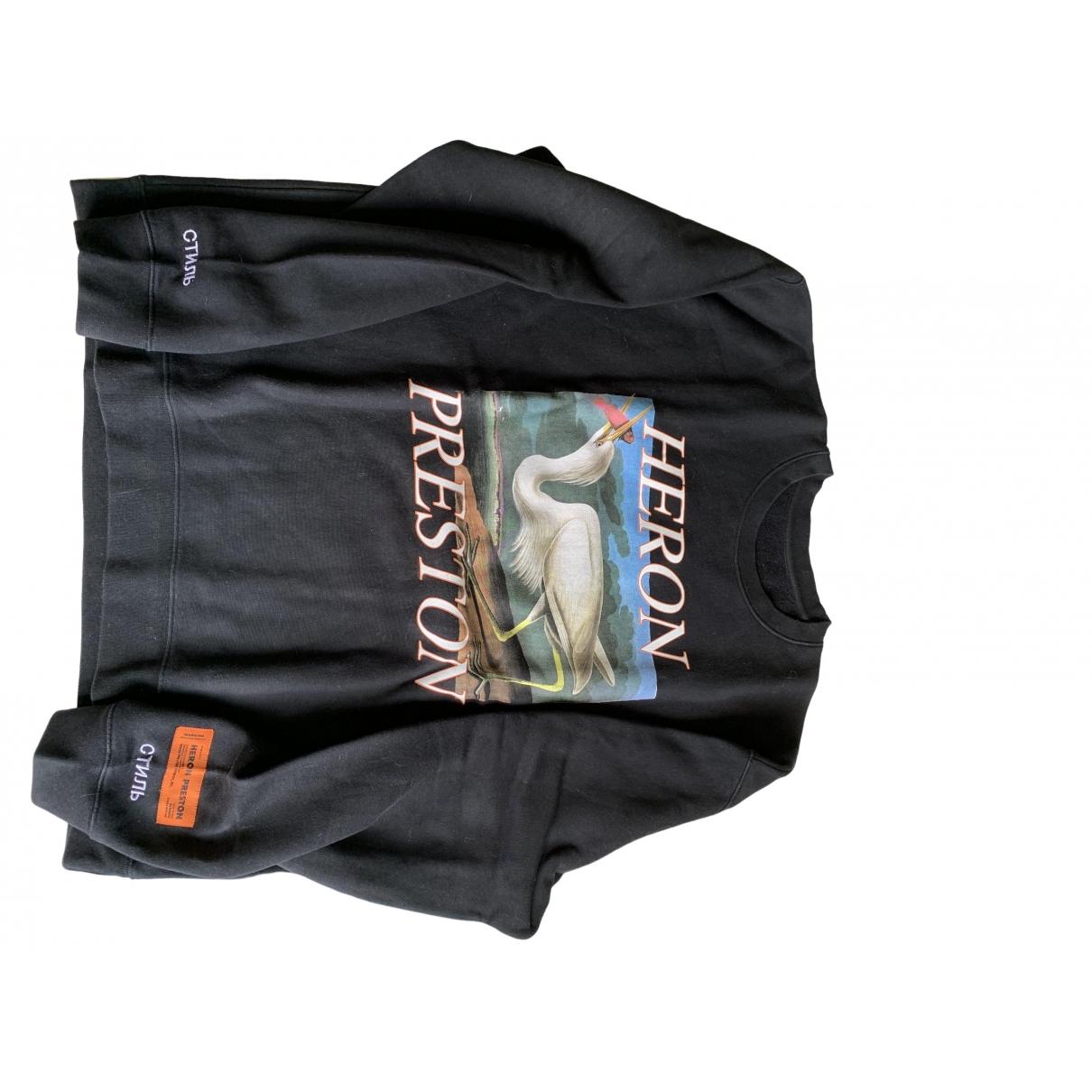 Heron Preston \N Pullover.Westen.Sweatshirts  in  Schwarz Baumwolle