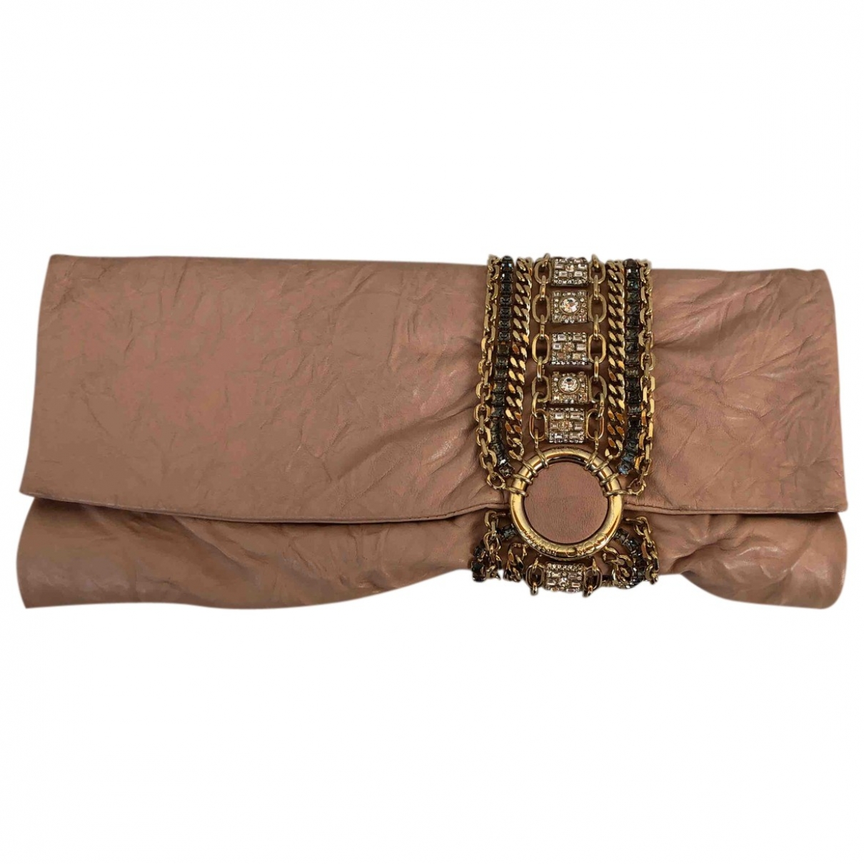 Jimmy Choo \N Clutch in  Rosa Leder