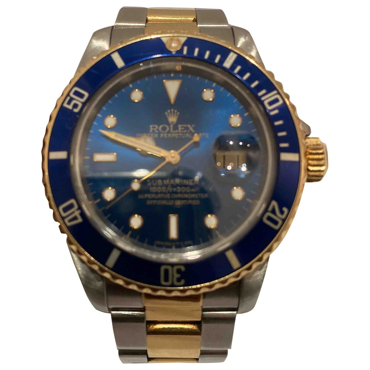Rolex Submariner Blue gold and steel watch for Men \N