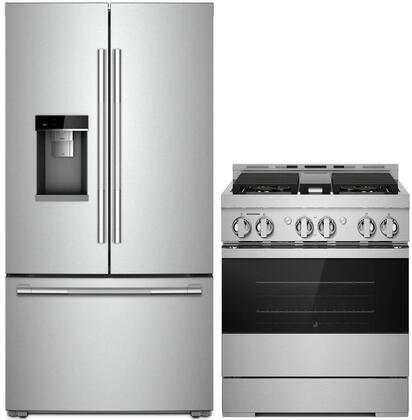 2 Piece Wi-Fi Connected Kitchen Appliances Package with RISE Series JFFCC72EHL 36