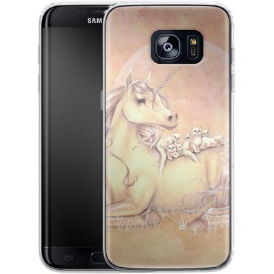 Samsung Galaxy S7 Edge Silikon Handyhuelle - Purrfect Friends von Selina Fenech