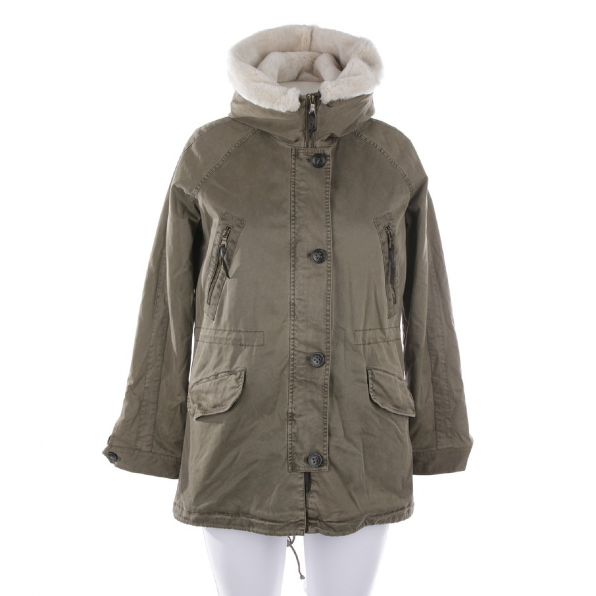 Blonde No.8 - Manteau   pour femme en coton - kaki