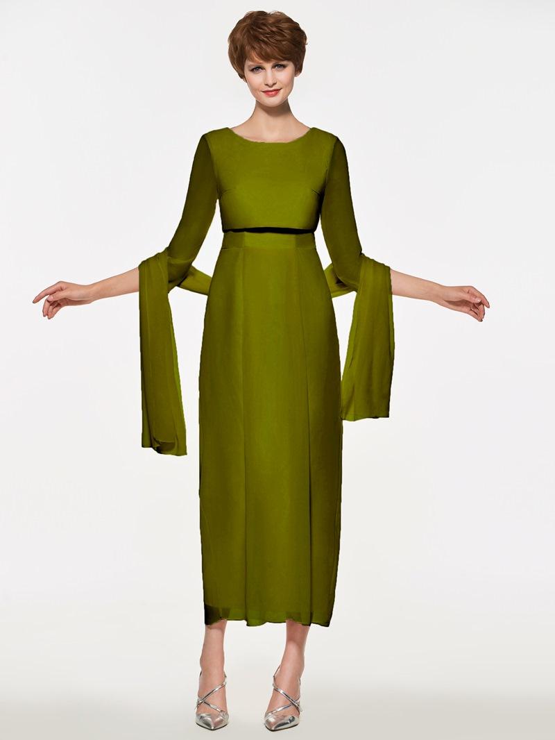 Ericdress Sleeves Sheath Tea Length Mother Of The Bride Dress