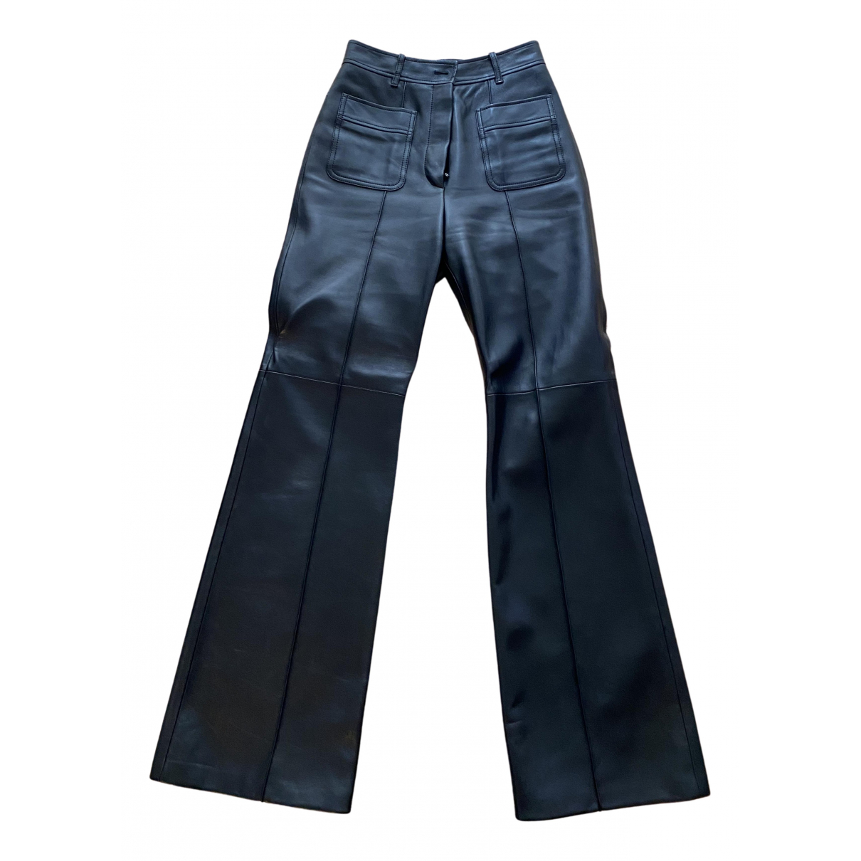 Gucci N Black Leather Trousers for Women 40 IT