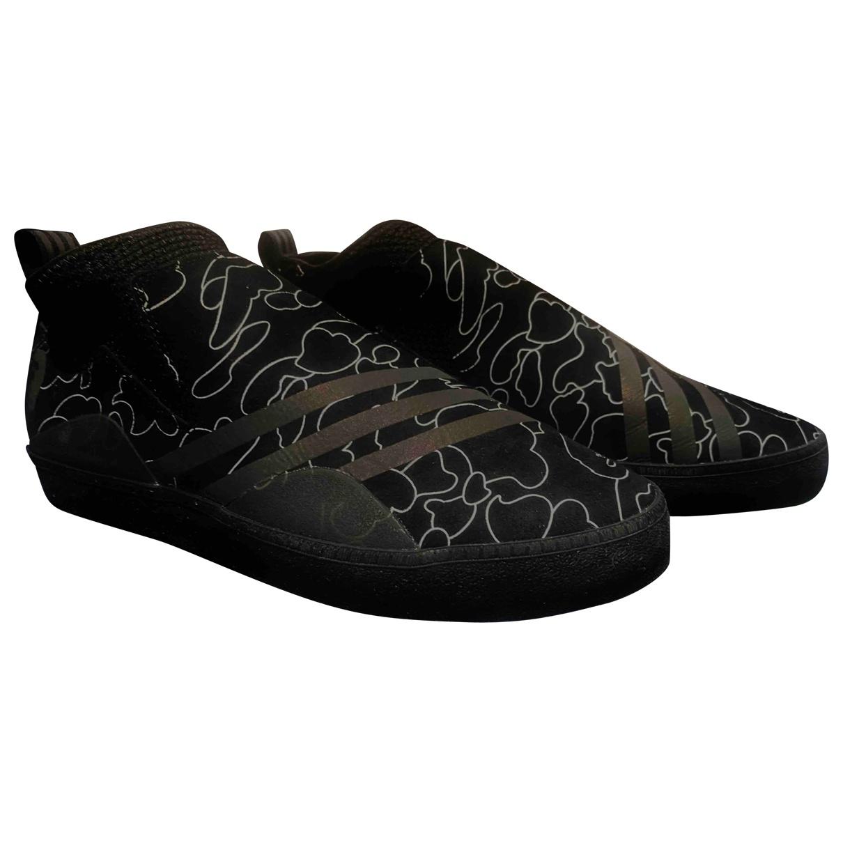 Adidas X A Bathing Ape - Baskets   pour homme en suede - noir