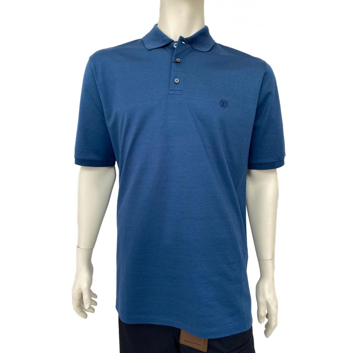 Louis Vuitton - Polos   pour homme en coton - bleu