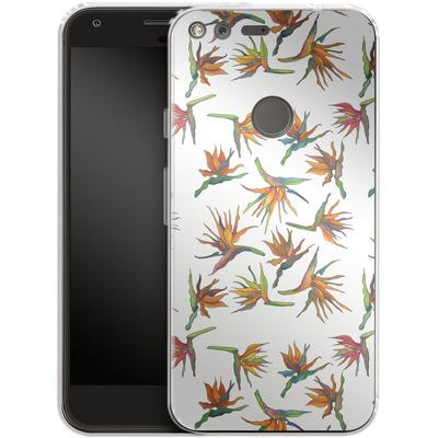 Google Pixel Silikon Handyhuelle - Paradise Flower Pattern von Kaitlyn Parker