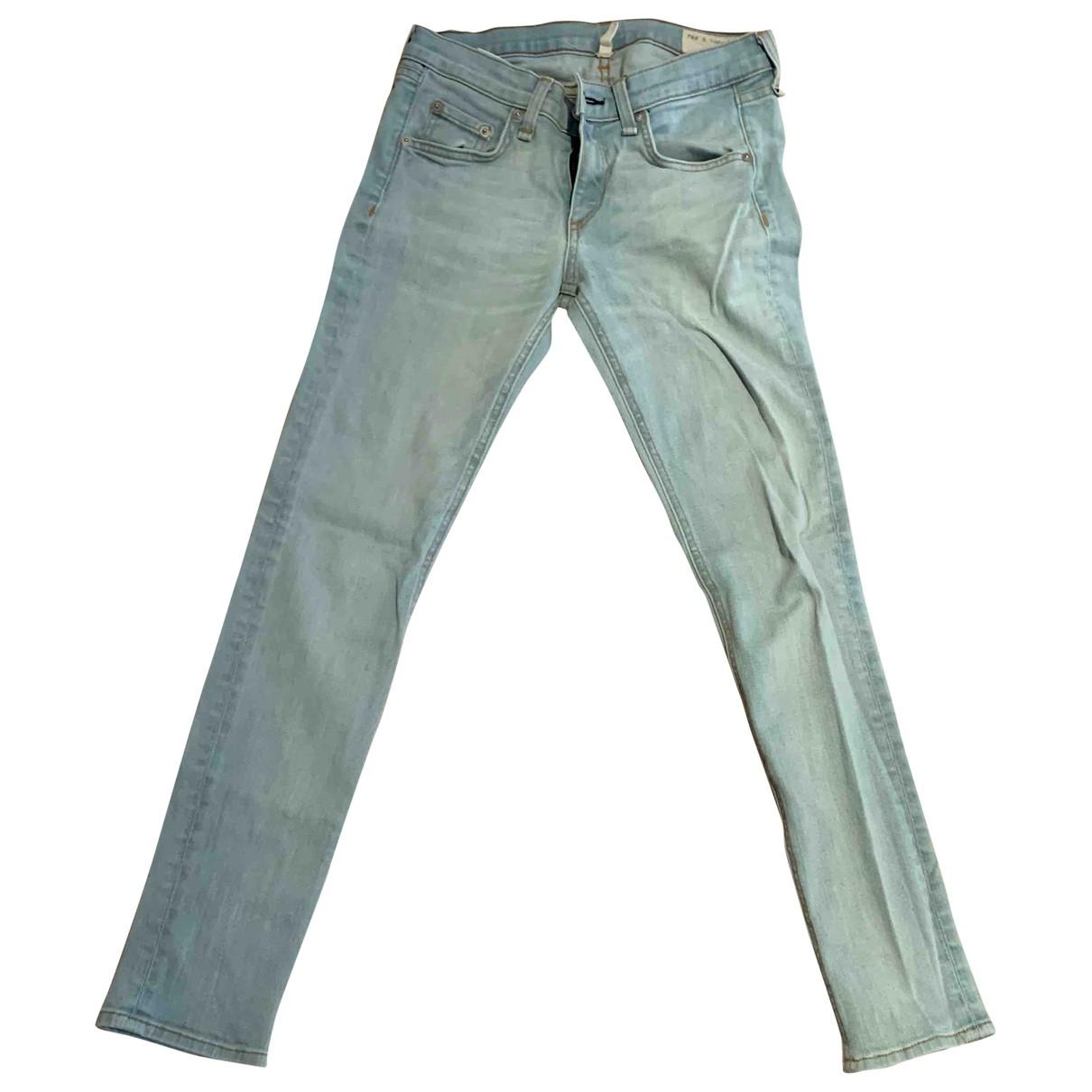 Rag & Bone \N Blue Cotton - elasthane Jeans for Women 25 US