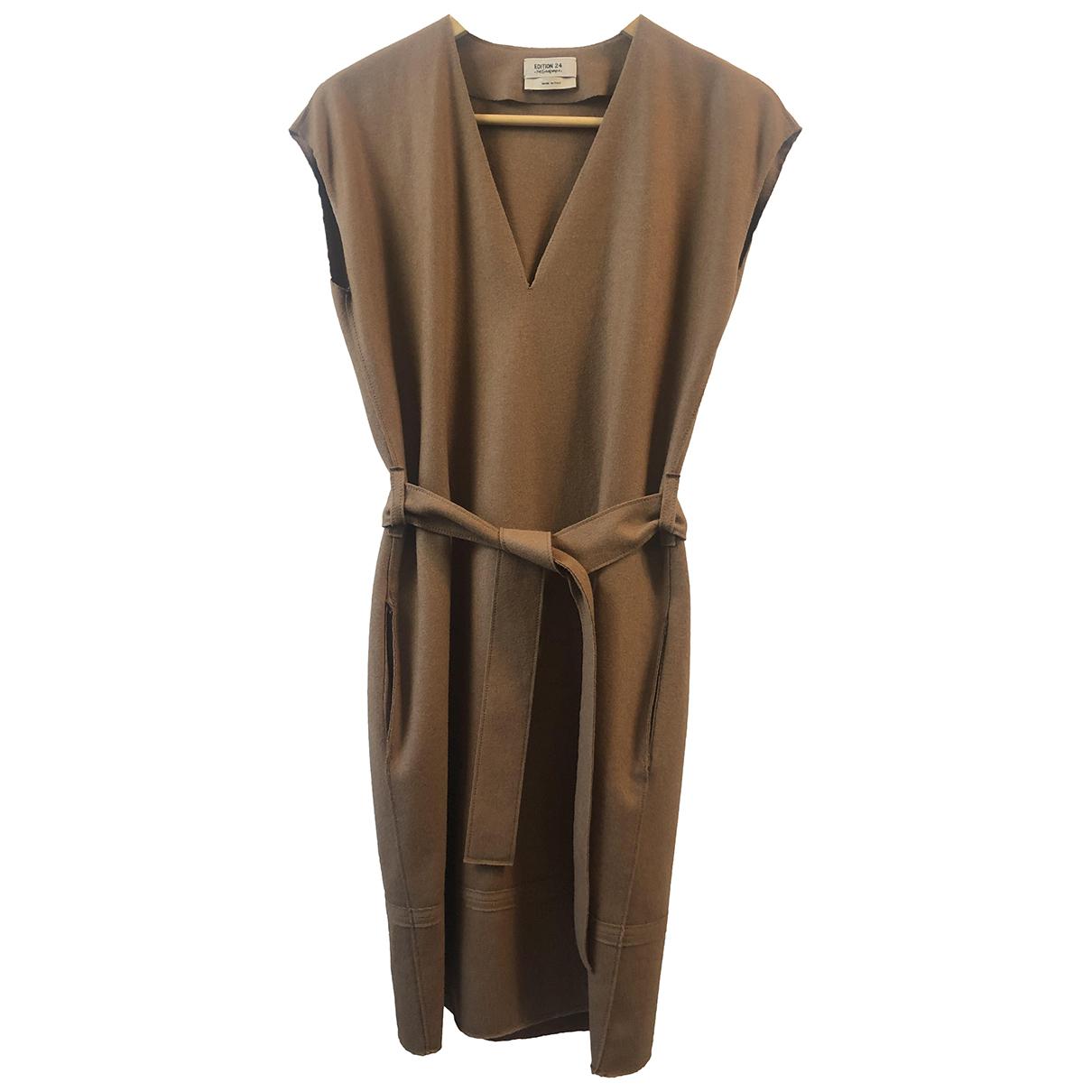 Yves Saint Laurent \N Brown Wool dress for Women 36 IT