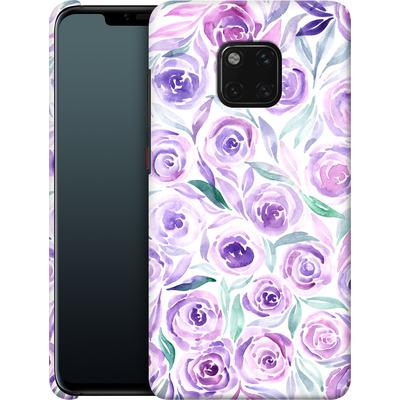 Huawei Mate 20 Pro Smartphone Huelle - Purple Rose Floral von Becky Starsmore