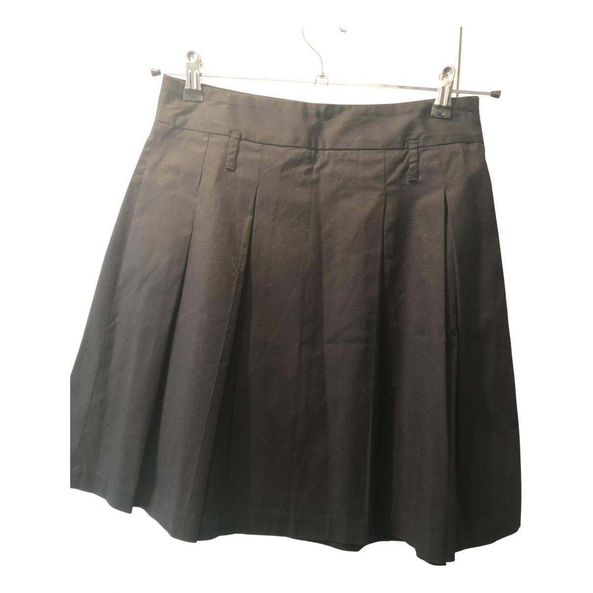 Zara - Jupe   pour femme en coton - noir