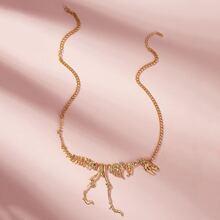 Dinosaur Design Chain Necklace 1pc
