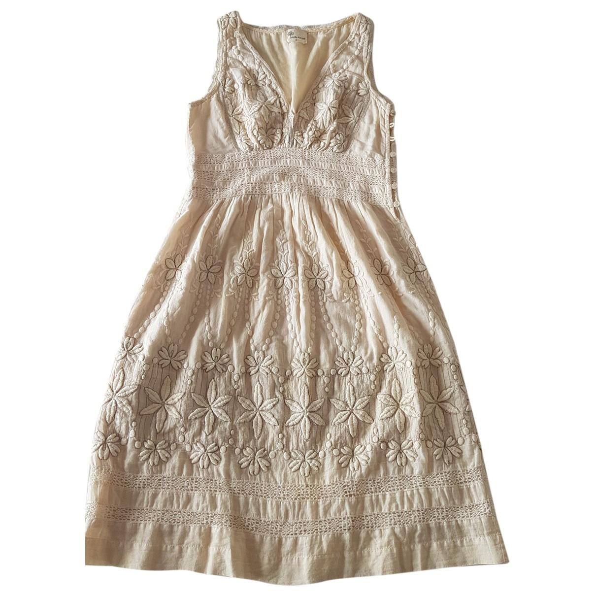 Stella Forest \N Kleid in  Beige Baumwolle