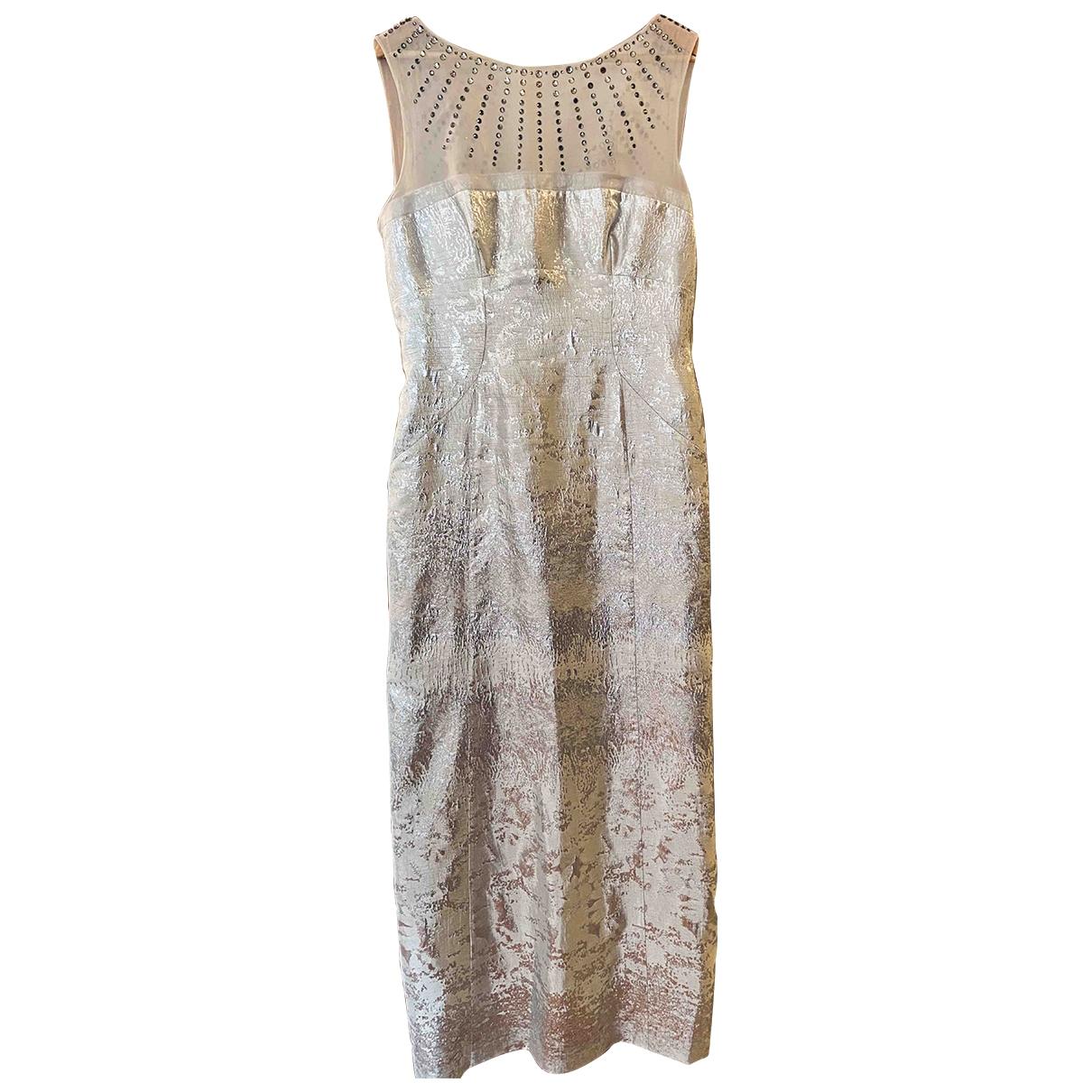 Philosophy Di Alberta Ferretti \N Kleid in  Silber Polyester