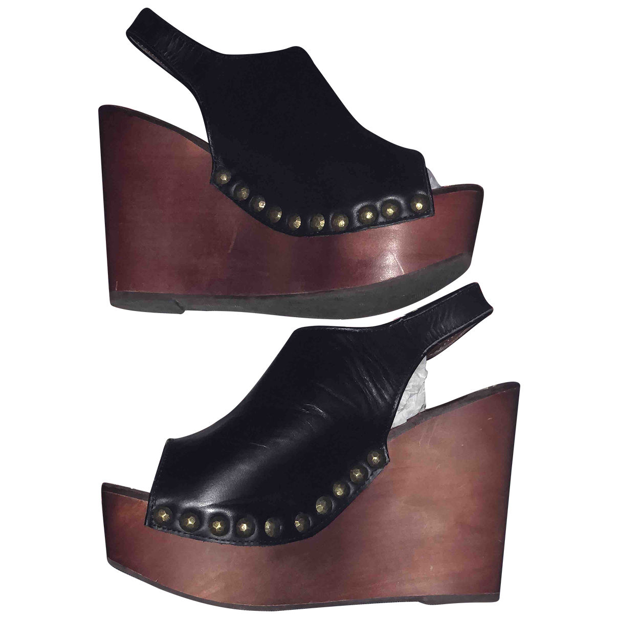 Jeffrey Campbell N Black Leather Heels for Women 40 EU