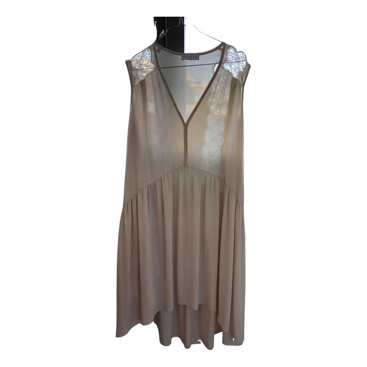 Sandro \N Kleid in  Ecru Polyester