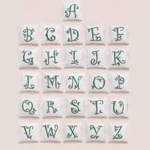 Kissenbezug mit Buchstaben Muster 1 Stueck