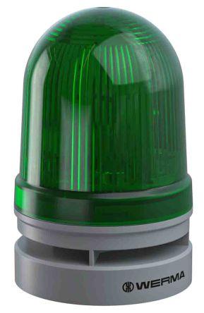 Werma EvoSIGNAL Midi Sounder Beacon Green LED, 115-230 V