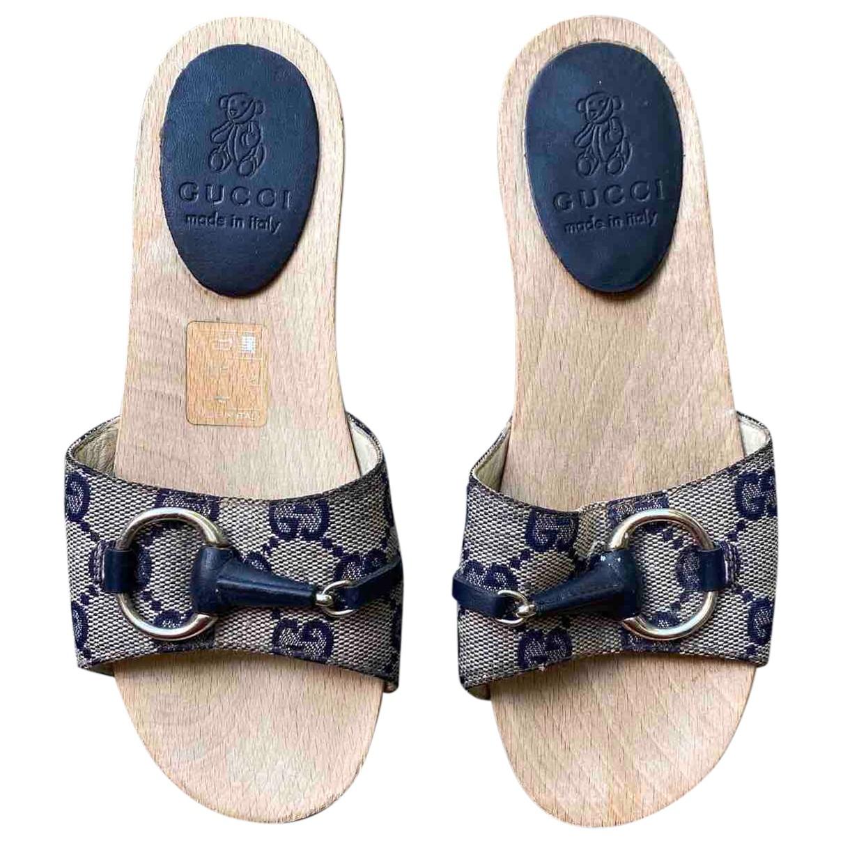 Gucci - Sandales   pour enfant en toile - bleu
