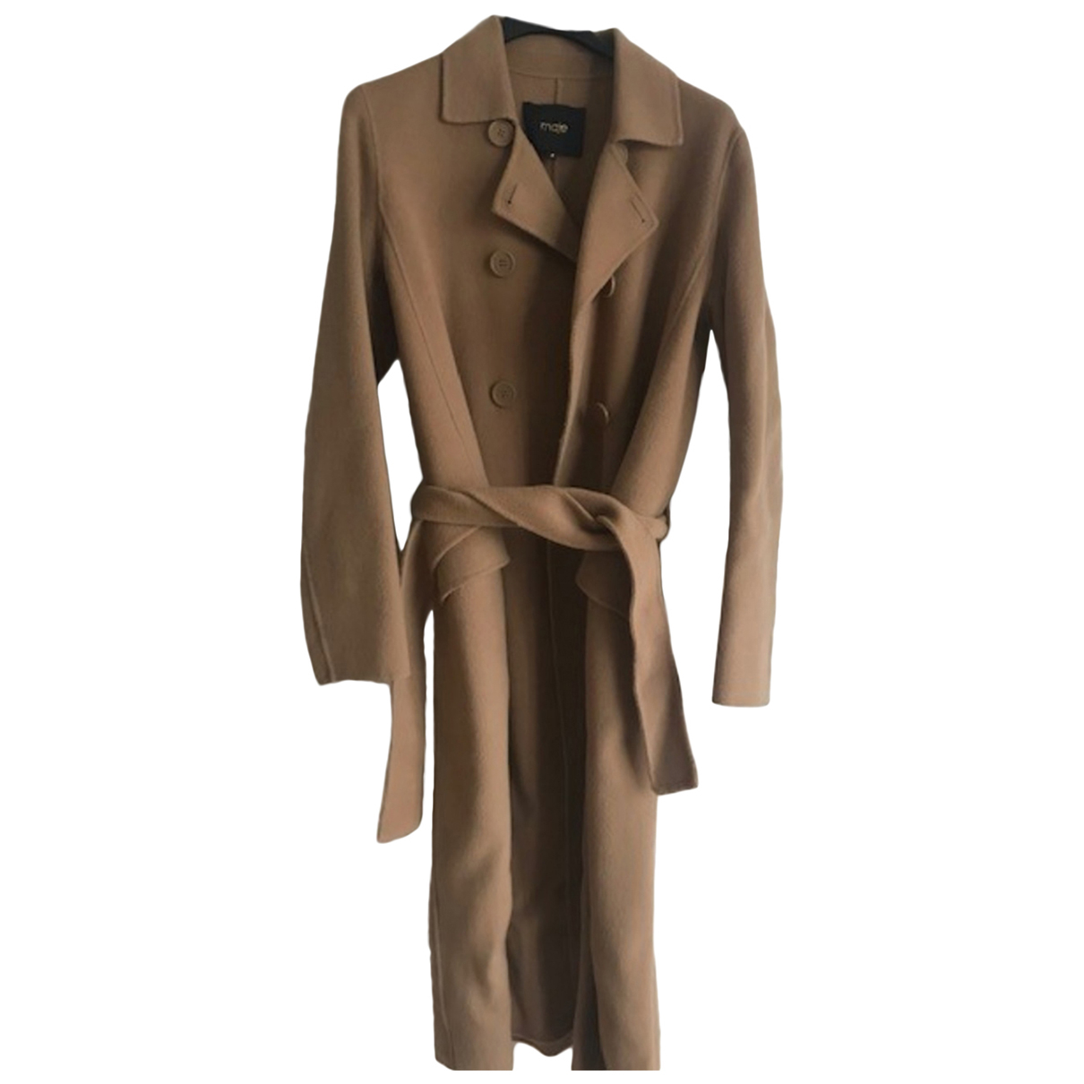 Maje \N Camel Wool coat for Women M International