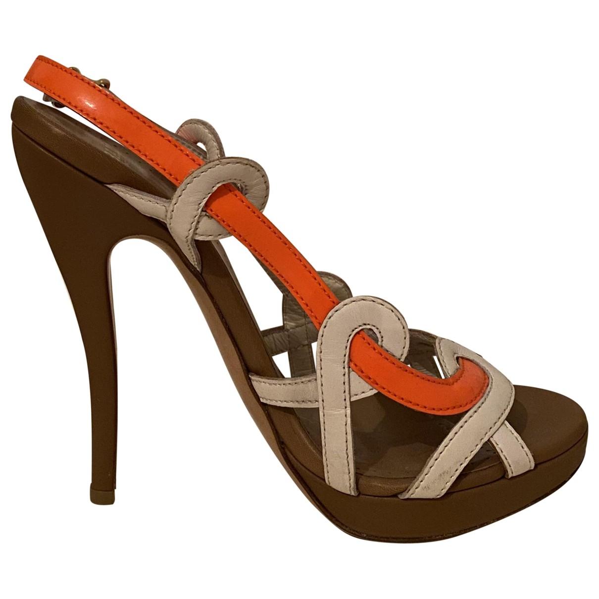 Bally \N Sandalen in  Orange Leder