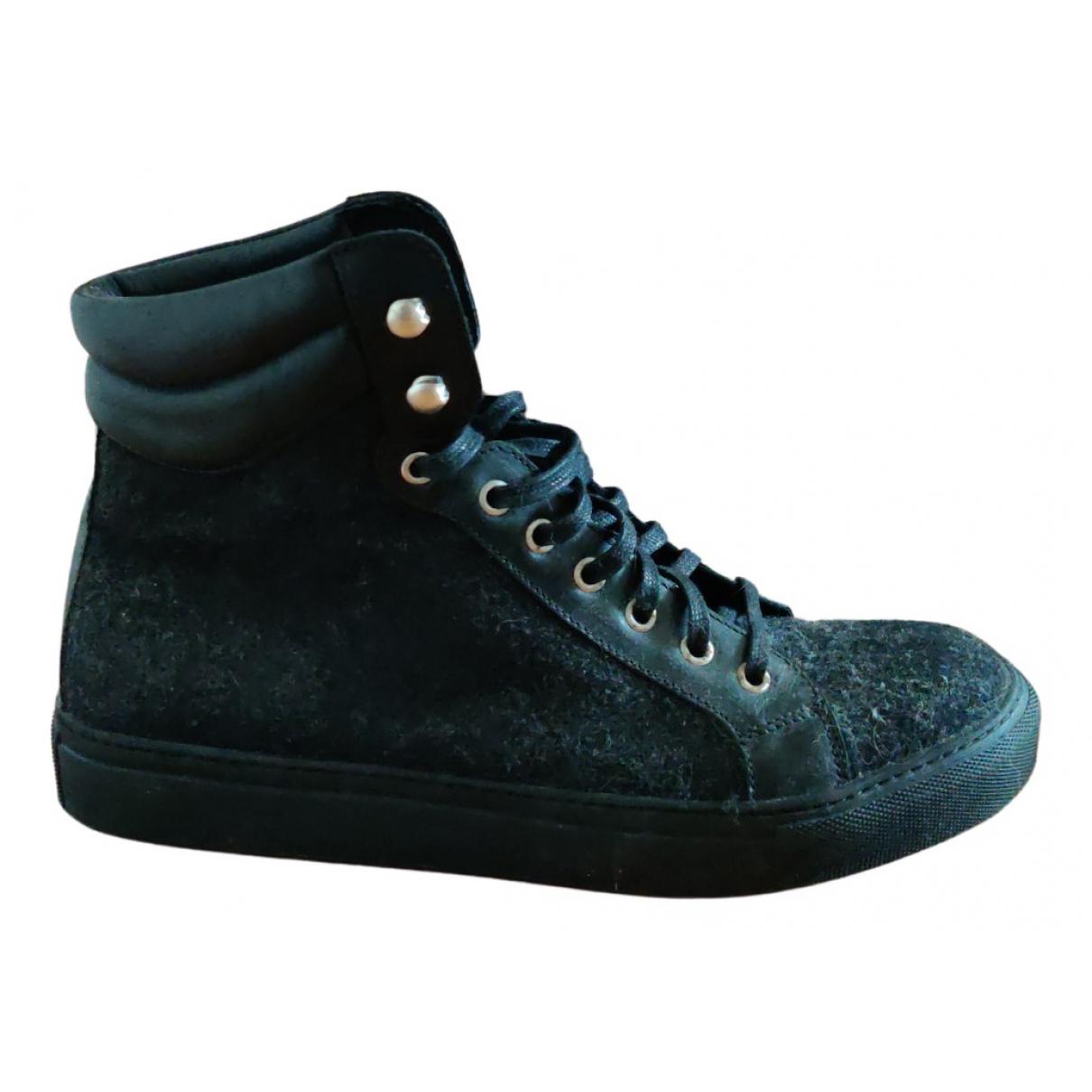 The Kooples \N Sneakers in  Schwarz Leinen