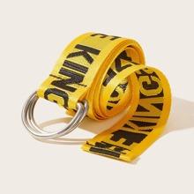 Cinturon con cinta grafica con slogan
