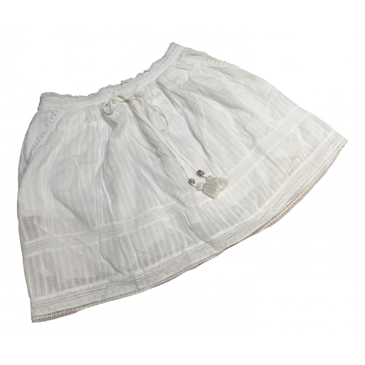 Zadig & Voltaire - Jupe   pour femme en coton - blanc