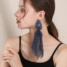 Scarf Decor Drop Earrings