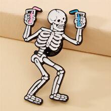 Halloween Skull Design Brooch