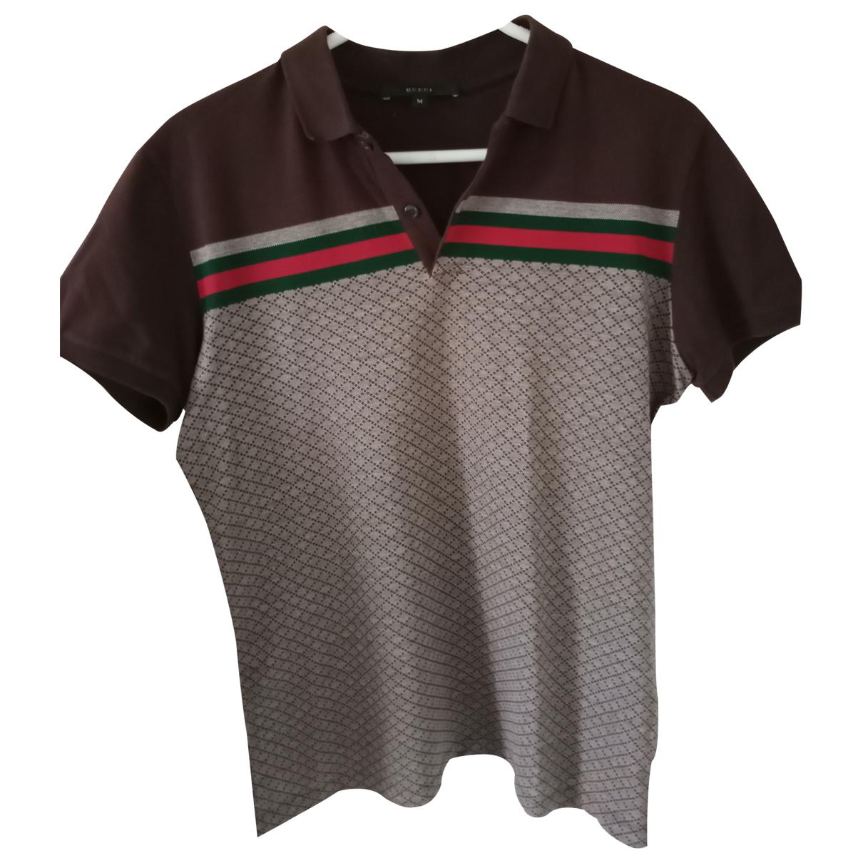 Polo en Algodon Marron Gucci