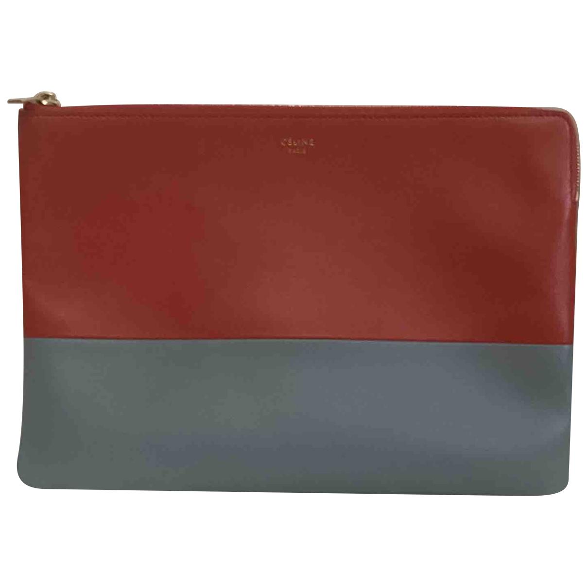 Celine \N Orange Leather Clutch bag for Women \N