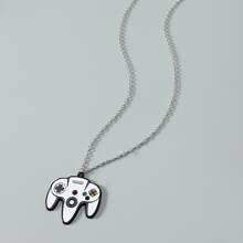 Men Gamepad Charm Necklace