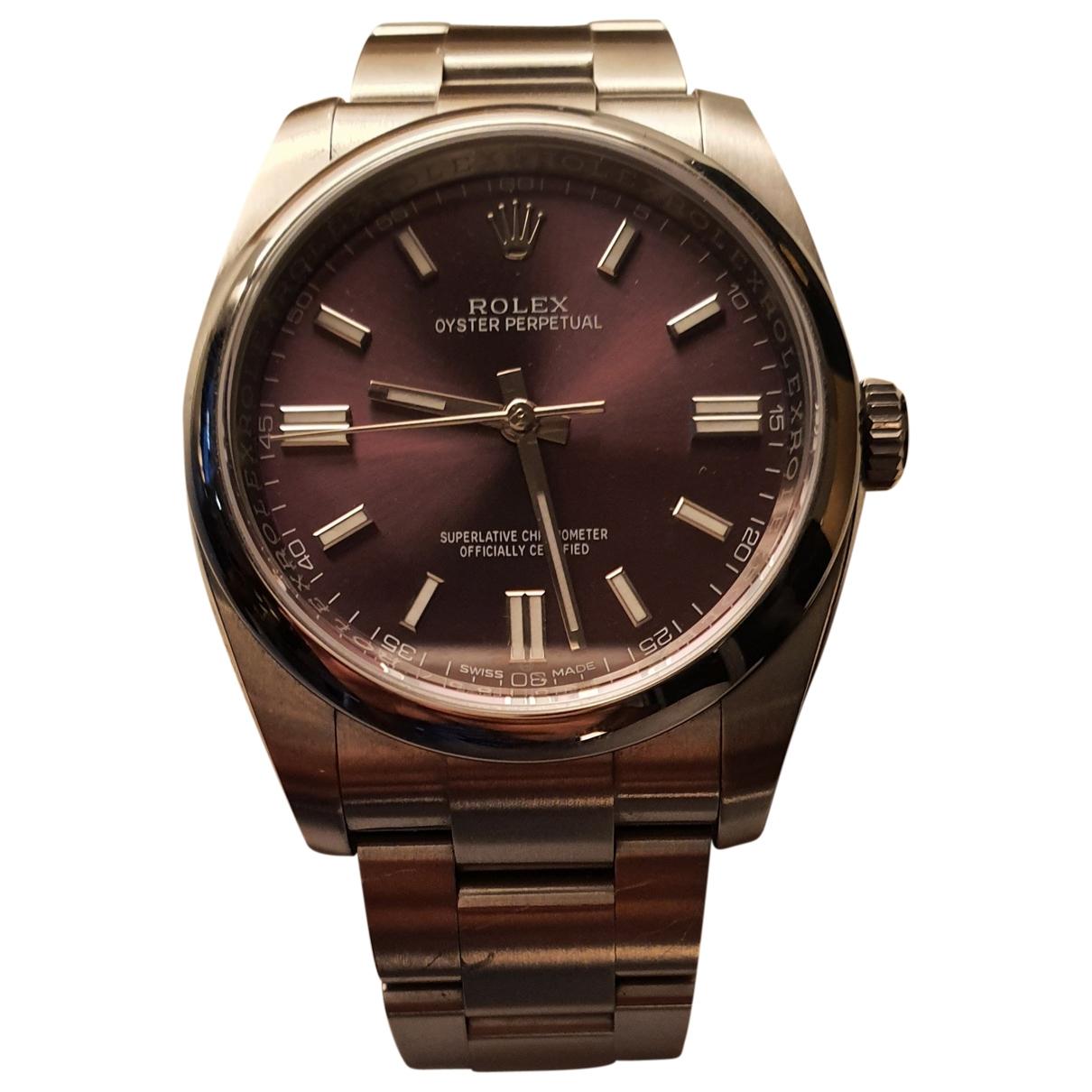 Rolex - Montre Oyster Perpetual 36mm pour homme en acier - violet