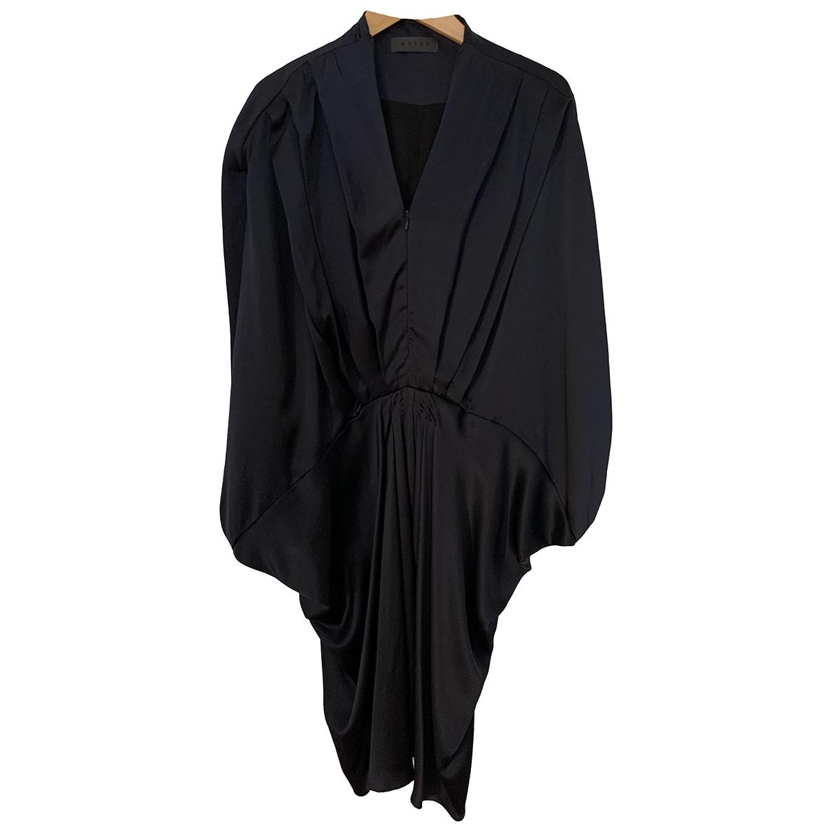 Wayne - Robe   pour femme en soie - marine