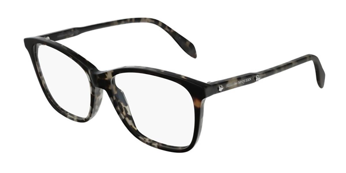 Alexander McQueen AM0191O 004 Women's Glasses Tortoise Size 54 - Free Lenses - HSA/FSA Insurance - Blue Light Block Available