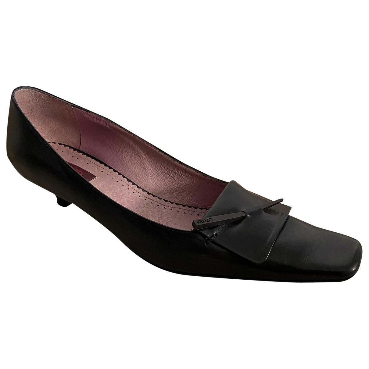 Kenzo - Escarpins   pour femme en cuir - noir
