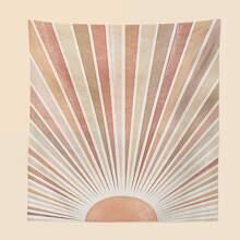 Teppich mit abstrakter Sonne Muster
