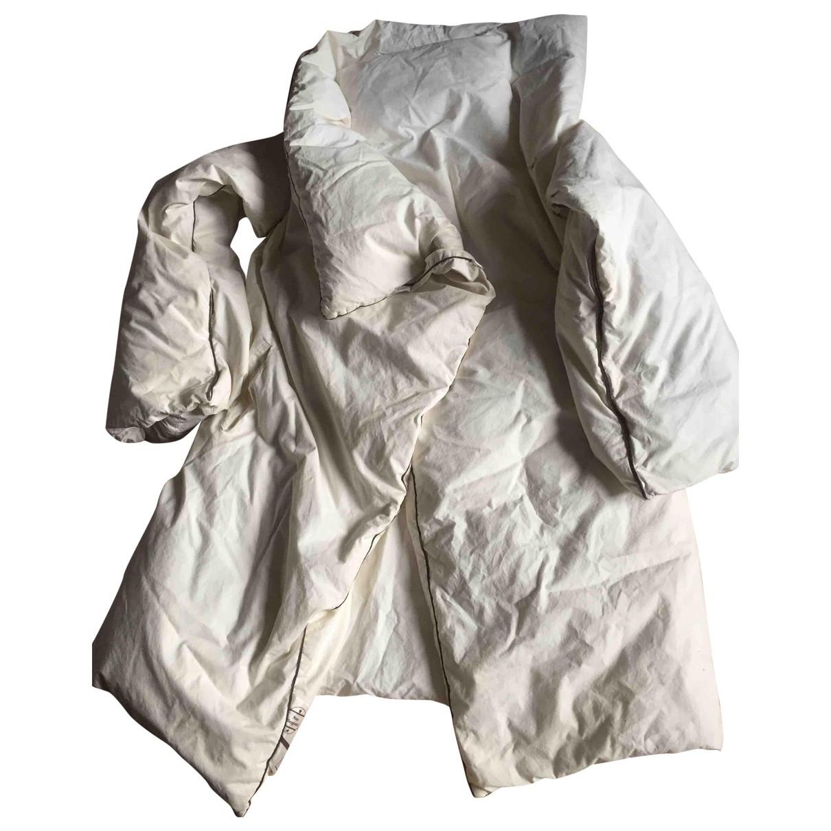 Maison Martin Margiela - Manteau   pour femme en coton - blanc