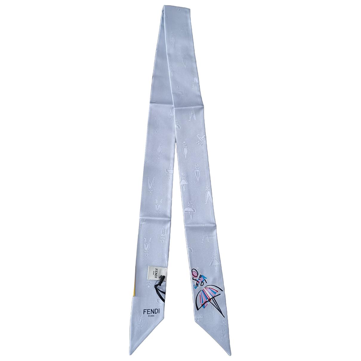 Fendi \N White Silk scarf for Women \N