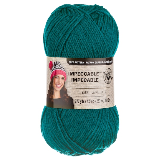 3 Pack of Loops & Threads® Impeccable™ Yarn, Solid in Teal | 4.5 oz | Michaels®