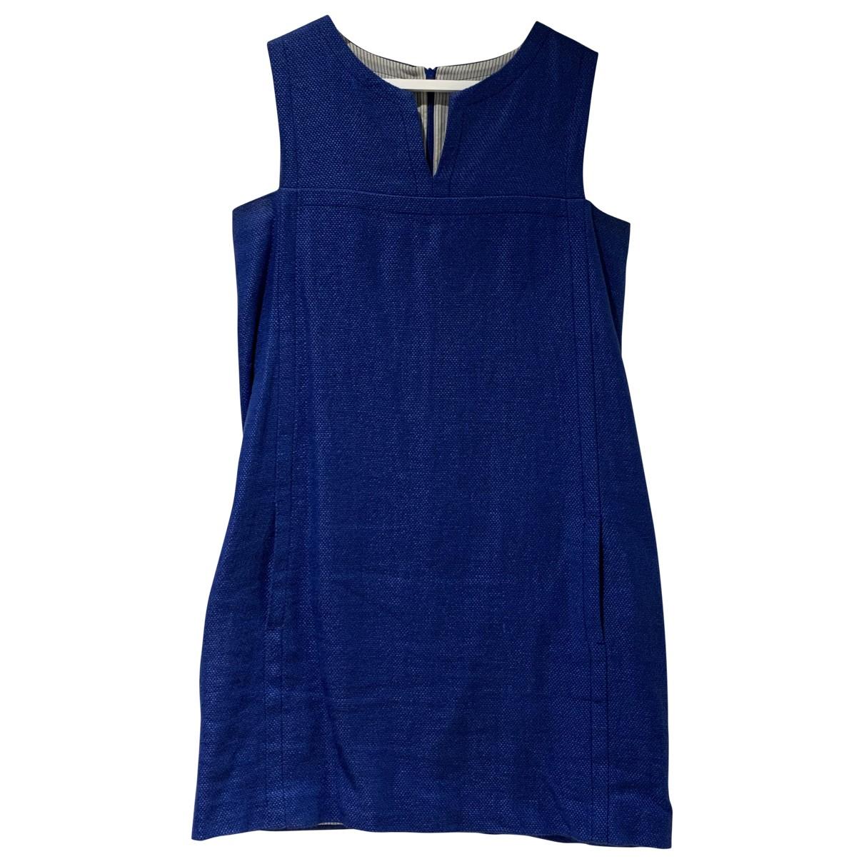 Max Mara s - Robe   pour femme en lin - bleu